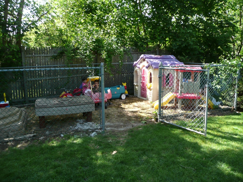 Fenced in Play Area