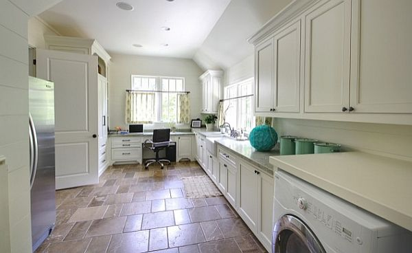 5 laundry room mudroom design ideas for Laundry room floor ideas