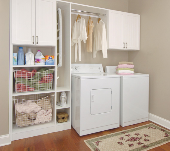 5 laundry room mudroom design ideas for Laundry room cabinets ideas