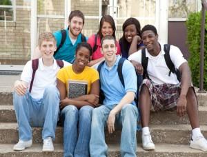 High School Students Posing