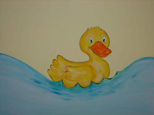 cartoon-duck-water-church-mural-kids-bradenton-florida