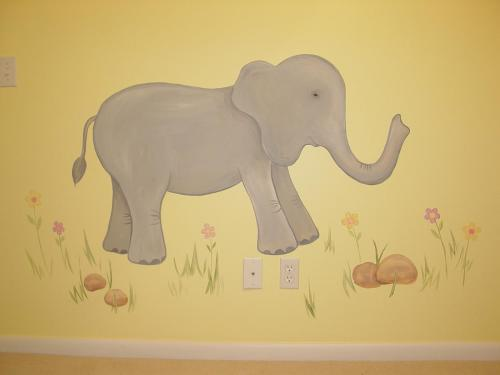 cartoon-elephant-mural-painter-bradenton-florida