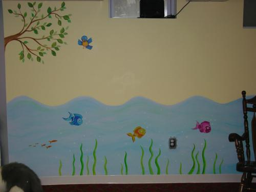 cartoon-fish-sea-mural-baby-nursery-bradenton-florida