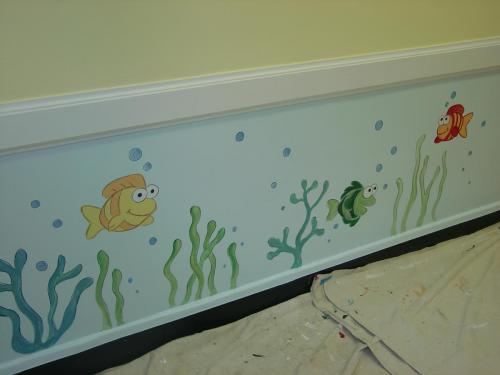 cartoon-fish-under-water-mural-kids-bradenton-florida