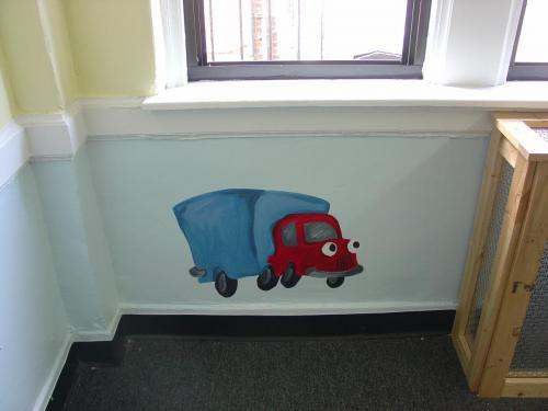 cartoon-truck-mural-kids-nursery-bradenton-florida