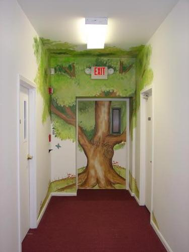 church-hallway-tree-mural-kids-bradenton-florida