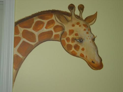 giraffe-head-mural-kids-bradenton-florida