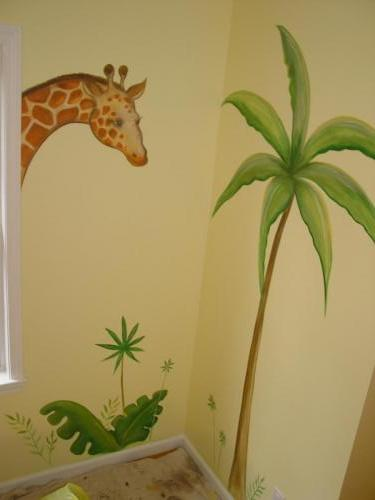 giraffe-palm-tree-wall-mural-bradenton-florida