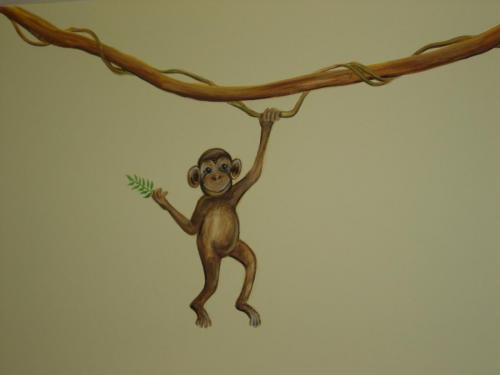 monkey-hanging-vine-mural-kids-bradenton-florida