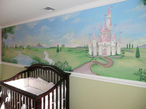 princess-castle-nursery-mural-3-bradenton-florida