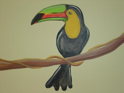 toucan-bird-on-vine-mural-bradenton-florida